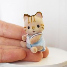 1PCS Cute Mini Sylvanian Families Doll Baby Cat Animal Figures Toy(China)
