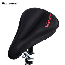 WEST BIKING  Bike Saddle Cover Silica Gel Mountain Bicycle Seat Cover Road Bike Front Seat Mat