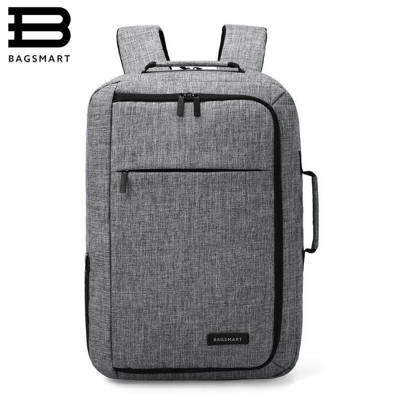 BAGSMART New Men Laptop Backpack Bolsa Mochila for 15.6 Inch Notebook Computer Rucksack School Bag Travel Backpack for Teenagers<br>