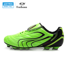 TIEBAO Outdoor Sports Men Women PVC Leather Football Boots Adults FG & HG & AG Soles Soccer Shoes Football Chuteira Futebol