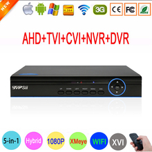 1080P,960P,720P,960H CCTV Camera XMeye Hi3521A 16 Channel 16CH 5 in 1 Coaxial Hybrid XVI 1080N CVI TVI NVR AHD DVR Free Shipping(China)