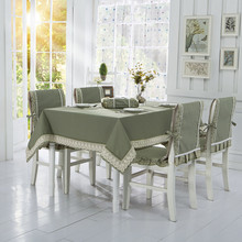 Cotton linen table cloth cushion dining table cloth fabric chair cover tablecloth table dining chair set