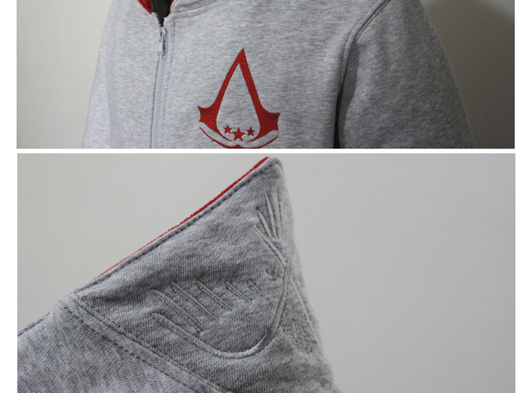 Fashion Men Assassins Creed Hooded Sweatshirt Hombre Autumn Winter Solid Hoodie Sweatshirts Men Cosplay Chadal Cool Clothing 3XL 9