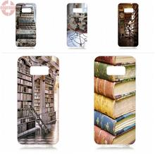 EJGROUP Vintage Bookshelves Book Lover For Samsung Galaxy S8 5.8 inch G950 G950F SM-G9500 Soft TPU Silicon Phone Case Cover(China)