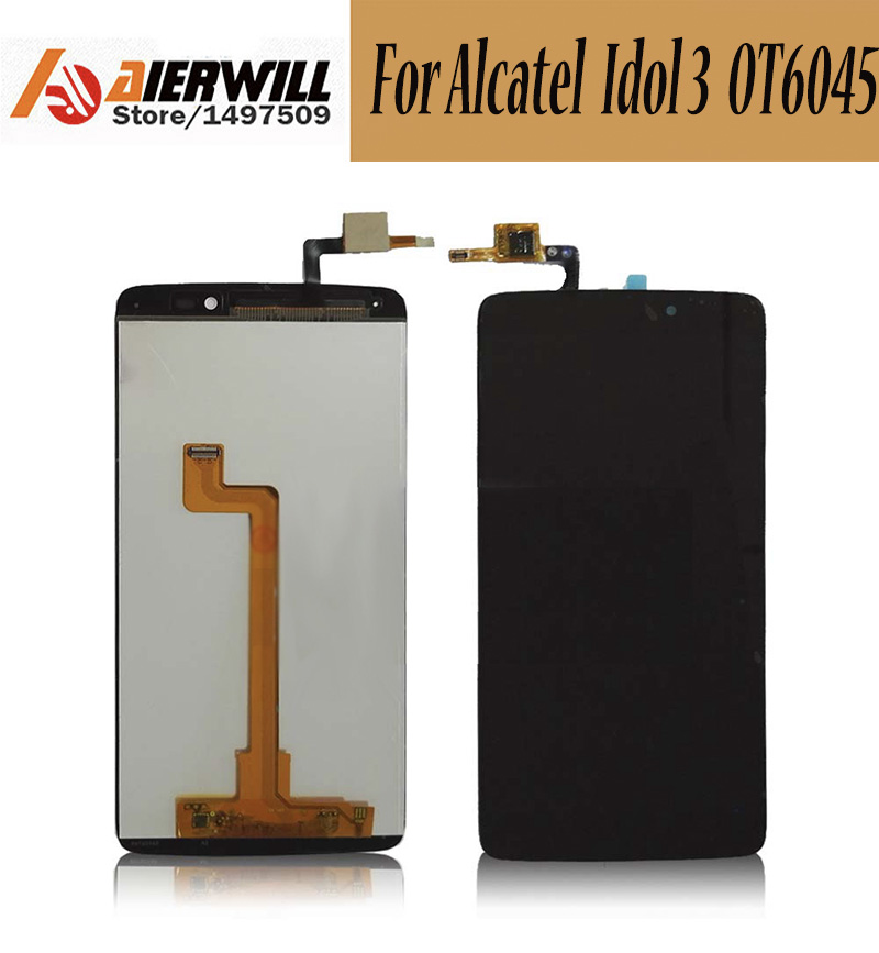 100% NEW For Alcatel One Touch Idol 3 6045 OT6045 LCD Display + Touch Screen Digitizer Assembly Replacement Repair Accessories <br><br>Aliexpress