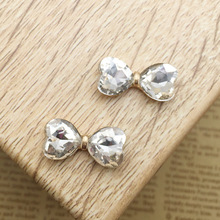 10x20mm Small Size Metal Rhinestone Flat Back Crystal Button Embellishment Headband Supplies Flower Centers
