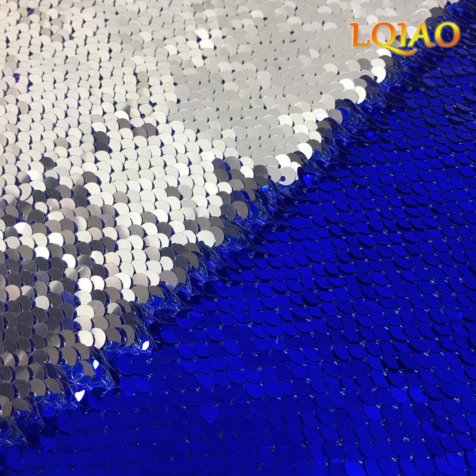 Blue Silve Sequin Fabric-color card