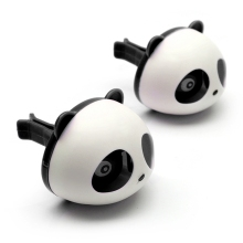 Car Styling Air Freshener 1 Set Car Air Conditioning Vent Perfume Panda Eyes Will Jump 5 Colors Parfume HA10660