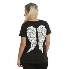 2017 T-Shirt Women The Walking Dead Daryl Dixon Wings Ladies Tee Shirts Zombie Fandem