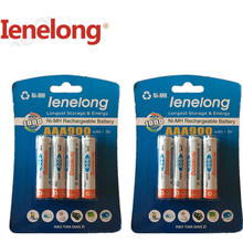 8pcs/lot Original AAA 1.2V (600mAh-900mAh) For Ienelong rechargeable AAA Ni-MH battery