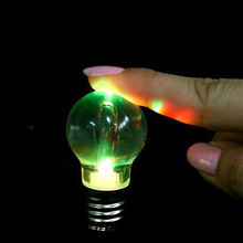 Seven color lamp luminous toy plastic key buckle GUC Nightlight bulb not afraid to fall