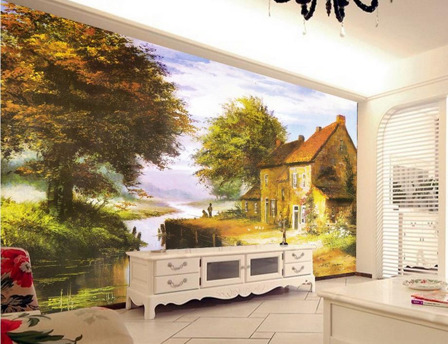 custom 3d photo wallpapers Continental home landscape painting 3d wallpaper mural kitchen wallpaper 3d wall murals wallpaper<br><br>Aliexpress