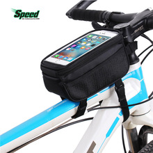 Bicycle Bags Cycling Bike Frame 5.7 inch Touch Screen Phone Holder Tube Storage Bag MTB Road Case Pouch 4 Colors - FZCSPEED store