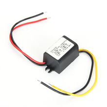 Waterproof voltage transformer converter with DC 12V auf current transformer 3 .7V 3A new