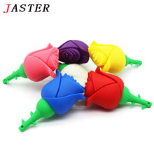 JASTER 5 colors beauty flower pen drive red rose usb flash drive pendrive 2GB 4GB 8GB 16GB 32GB 64GB gift for girls lovers