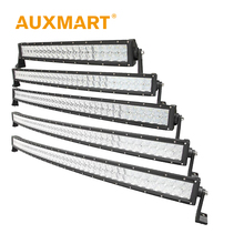 Auxmart CREE Chips 5D Curved LED Light Bar 200W 300W 400W 480W 500W 520W Offroad Light Bar for Pickup Truck SUV ATV 4X4 RZR