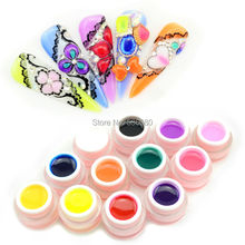 #40267 free hot sale 3d gemstone uv gel,diamond uv gel kit, jelly color gel, glass uv gel(China)