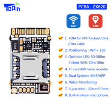 TOPIN Small ZX620 PCB Wifi LBS GSM Tracker Positioning TF card Voice Recording Indoor Accuarcy 10m Mini 22*13mm Voice Monitoring(China)