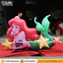 Free Shipping 2.5m long inflatable mermaid customized decorative inflatable mermaid replica model for outdoor toys(China)
