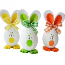 3PCs New Cute Bunny Shaped Easter Eggs Hanging Gift Kindergarten Decor Child 3 Style