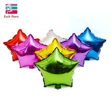 18inch Multicolor Star Foil Balloons Wedding Decoration Ballons Happy Birthday Party Decoration Kids Ball Event & Party Supplies(China)