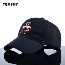 TQMSMY brand Hats women's Baseball Cap cotton men Snapback Caps Unisex dad hat Hip Hop bone Embroidered Flamingo sun hat Ladys