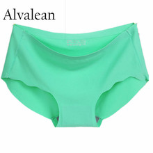 Alvalean Hot sale Ice silk one piece women seamless sexy panties briefs for women string underpant panty female underwear MU1007