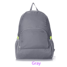 2017 Foldable Waterproof Backpack Fashion Backpacks for Unisex Solid Preppy Style Soft BackPack Unisex School Bags Canvas Bag