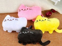 10PCS/LOT Kawaii Mix Colors 10CM Smiley Cats Plush Stuffed TOY DOLL , Keychain Pendant TOY Wedding Gift Bouquet DOLL TOY(China)