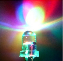 100pcs 3mm RGB 7 color fast flash LED light-emitting diode (LED) New products and ROHS