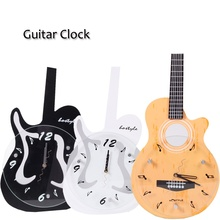 QCYQ Electric or Acoustic Guitar Shape Decorative Wall Clock