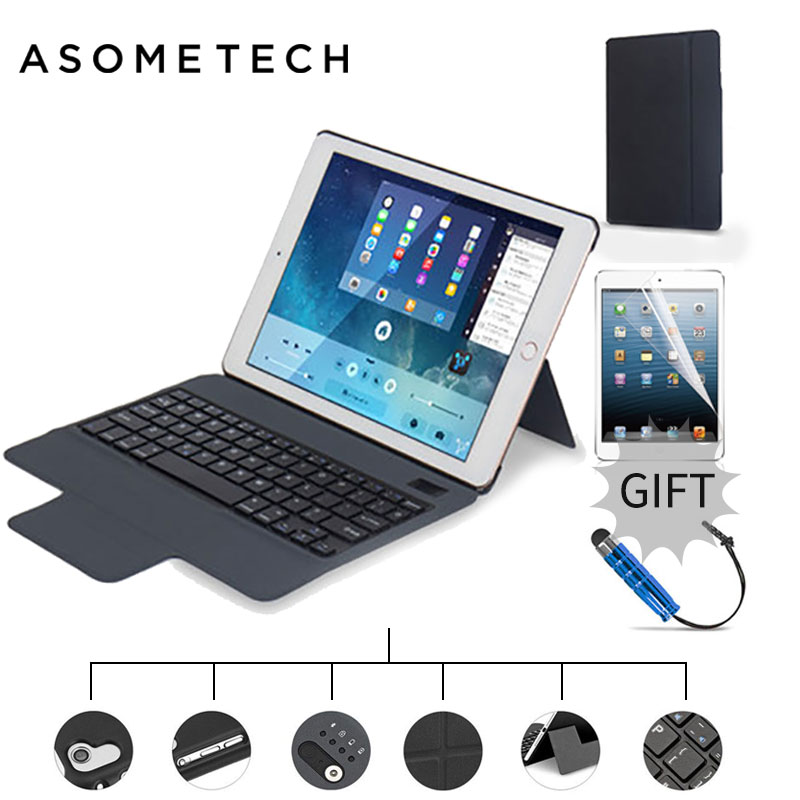 For ipad pro 10.5 Shockproof Magnet 2 in1 Bluetooth 3.0 Wireless Keyboard Foldable Flip Case Stand Cover Holder for iPad 2 3 4<br>