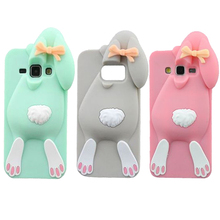 For Samsung Galaxy S7 S6 S5 S4 S3 Edge Plus Case 3D Rabbit Bunny Silicone Soft Cell Phone Back Cases Cover