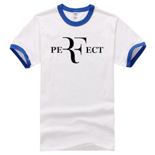 roger federer t shirts  Perfect Letters printing t-shirt Short Sleeve 100% Cotton T Shirts 2017 new fashion summer Men Fashion