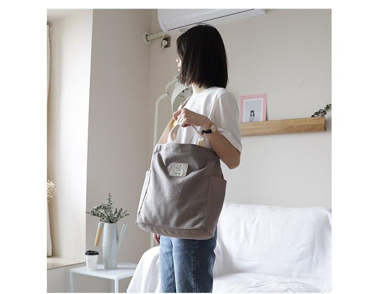 Boshikang Women Canvas Tote Ladies Casual Shoulder Bag Foldable Reusable Shopping Bags Beach Bag Female Cotton Cloth Handbag 31 Online shopping Bangladesh