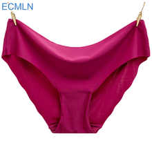 6Colors Women Seamless Briefs Plus Size Panties Ultra-thin Traceless Trimming Ruffles Sexy Panty New Fashion cai(China)