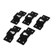 DIY Audio Sound Box Speaker Wall Mount Iron Hook Hanger Plate 5PCS