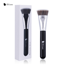 DUcare 1 PCS Flat Contouring Brush Synthetic Bristles Contour Blend Makeup Brushes Soft Hair Cosmetics Tools for powder liquids(China)