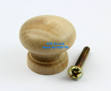 20 Pieces Wooden Drawer Pull Cabinet Knob Furniture Handle / 28mm / Unpolished