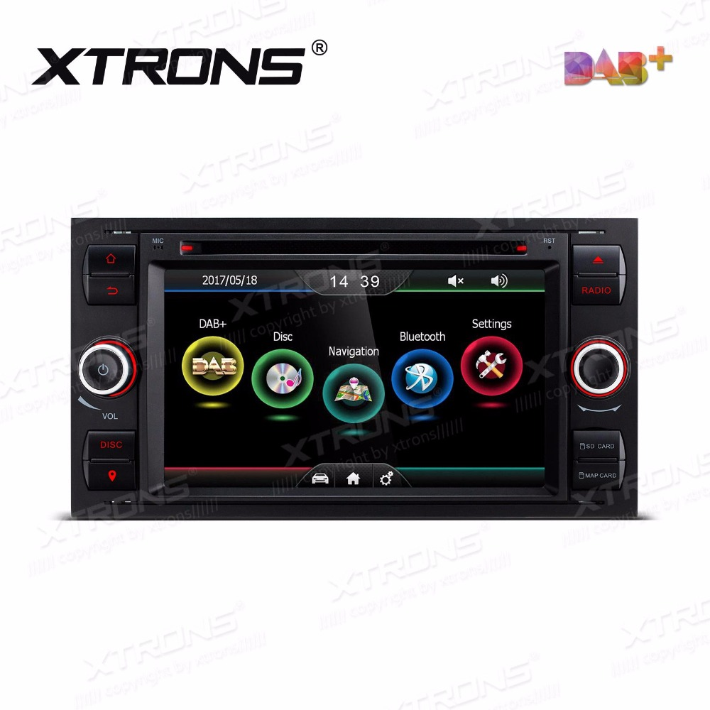 Xtrons 7 inch car dvd player 2 din radio dab canbus gps navigation for ford focus ii c max 2005 2007 galaxy transit 2006 2008