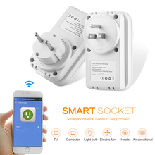 LIGAN SWA1 AC 100 - 240V Smart Socket 2.4GHz Wireless Remote Control Outlet Switch With Time Function APP Control US / EU Plug