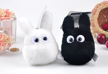 White & Black MY Neighbor TOTORO 10CM Plush Stuffed TOY ; Sucker Keychain Pendant TOY DOLL Wedding Bouquet TOY DOLL(China)