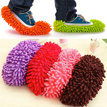 Fashion Mop Lazy Mop Shoes Candy Color Floor Moppers Slipper Mop Cover Housework Cleaning Foot Socks(China)