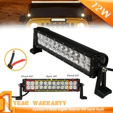 14INCH 72W  LED work light bar off road UTV ATV combo beam driving lamp