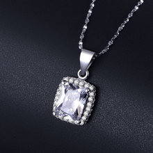 Big Promotion 2ct Real 925 Silver Pendant SWA Element imitated 5A Zircon Necklace For Women Wholesale Wedding Engagement Jewelry