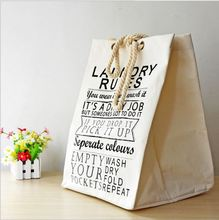 New Arrivals 49X36.5X34CM Large Solid Color Cotton And Linen Receive Bag WithThick Cotton Rope Practical Move Shopping Bags A039