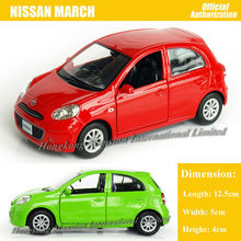 1:36 Scale For Nissan MARCH Diecast Alloy Metal Car Model Collectible Collection Model Pull Back Toys Car(China)
