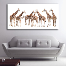 Unframed Big size Giraffe Paintings For Children Room Wall Decor Posters And Prints On Canvas Living room home decor