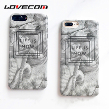 LOVECOM Sketch English Letters Quotes Case Coque For iPhone6 Matte Hard PC Phone Cases For iPhone 6 6S Plus Cover Fundas Shells