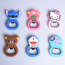 Creative cartoon multifunction silicone Stainless Steel bottle opener beer fridge openers kitchen tools (can be Fridge Magnet )